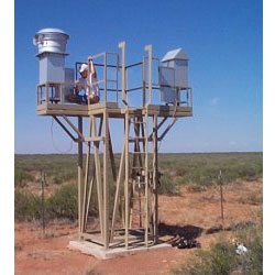 Aerosol Sampling station near WIPP