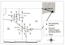 Sampling locations in the vicinity of the WIPP site, Figure from the 2000 Annual Report