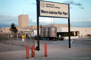 A shipment of contact-handled transuranic waste arrives at the Waste Isolation Pilot Plant.